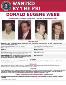 Donald Webb died in 1999 while still on the FBI's Ten Most Wanted Fugitives list, the bureau said Friday in a statement.